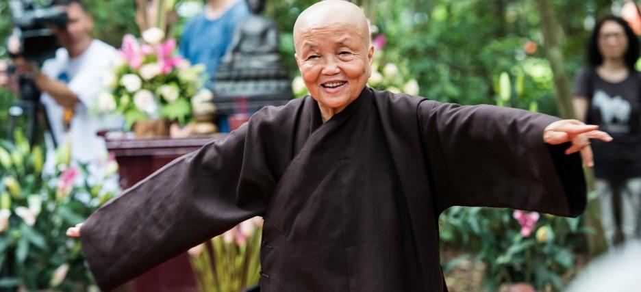 Sister Chan Khong at Lotus Pond Temple in Hong Kong - by Kelvin Cheuk