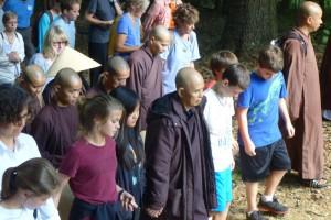 Walking meditation, photo courtesy of Ray Hemachandra