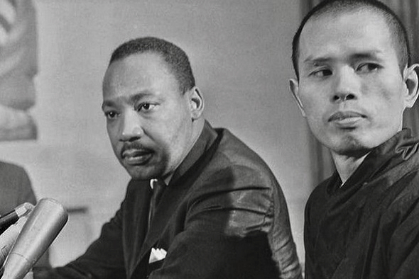 Martin Luther King Jr. with Thich Nhat Hanh